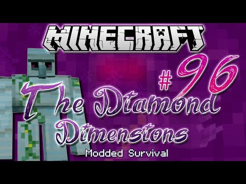 """DIAMOND GOLEM""   Diamond Dimensions Modded Survival #96   Minecraft"