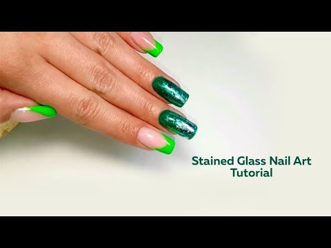 Stained glass nail art tutorial thumbnail