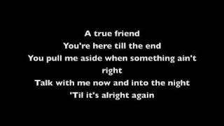 True Friend Karaoke (music & lyrics)