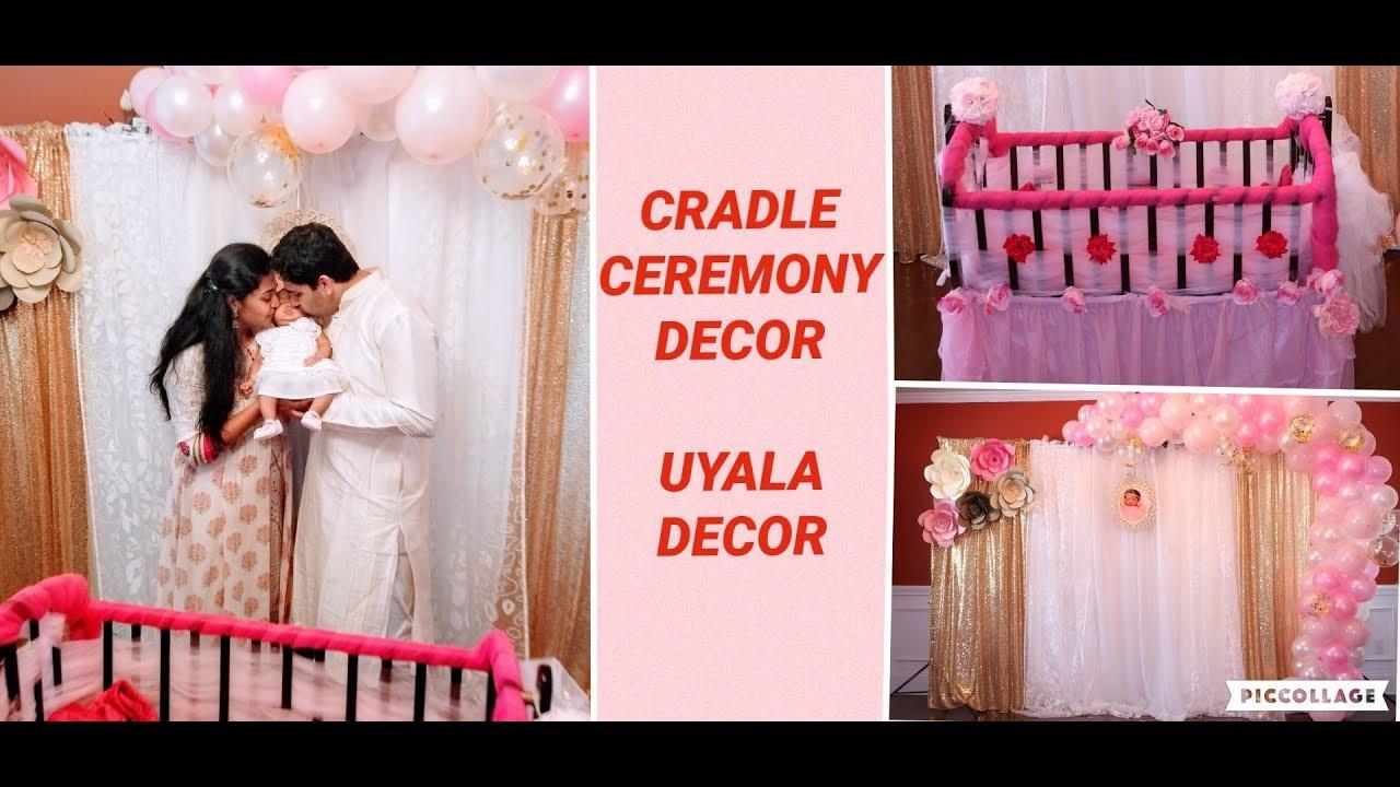 Baby Cradle Decoration Uyala Ceremony