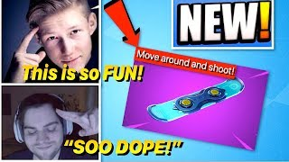 Streamers react to *NEW* DRIFTBOARD / HOVERBOARD - Fortnite Best Moments