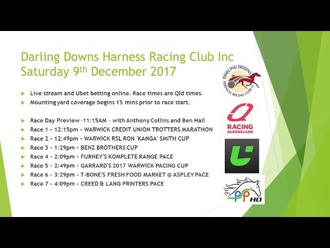 Darling Downs Harness Race 4 PREVIEW 9th December 2017