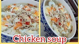 CHICKEN SOUP.. perfect recipe to make chicken soup at home by ( cook with ainy mehboob )