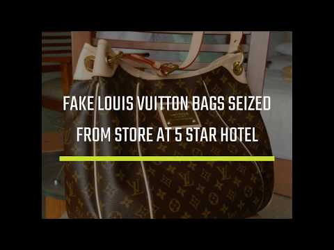 Fake Louis Vuitton bags seized from store at 5-star hotel