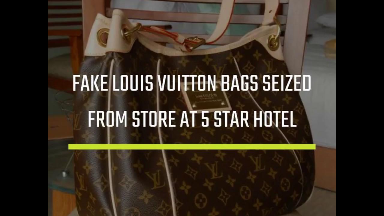 Louis Vuitton bags: Fake Louis Vuitton bags seized from