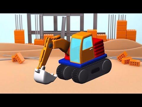เกมส์สร้างรถแม็คโคร รถก่อสร้าง รถดั้ม รถบรรทุก เฮลิคอปเตอร์ วีดีโอสำหรับเด็ก