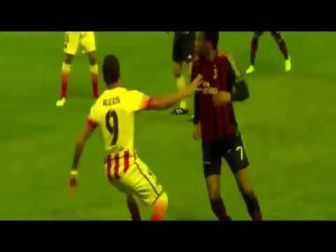 Robinho Amazing Skill vs Alexis Sanchez- AC Milan vs Barcelona 1-1- 22 10 2013-
