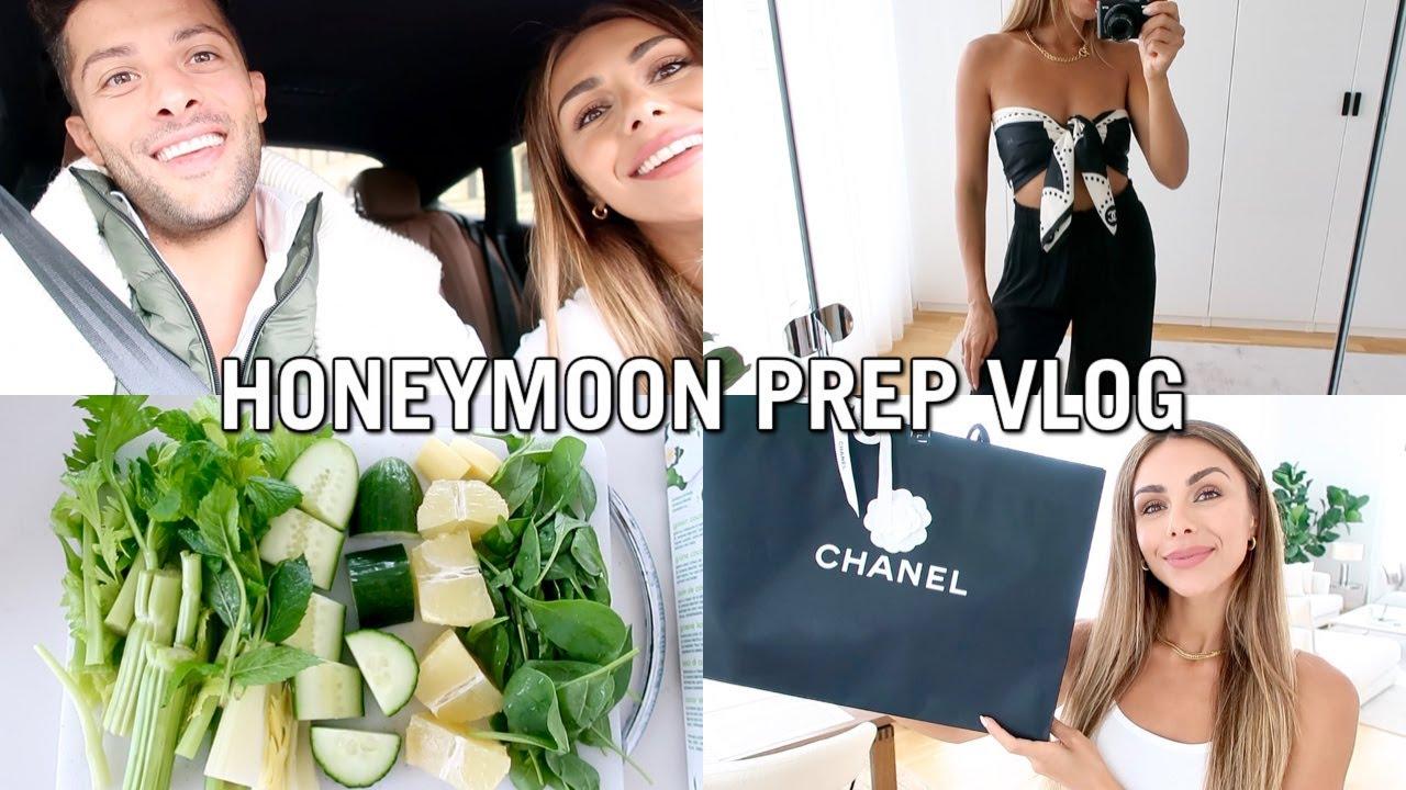 VLOG | Honeymoon Prep, Pack With Me & Try-On Haul | Annie Jaffrey