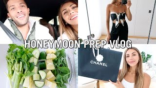 VLOG | Honeymoon Prep, Pack With Me & TryOn Haul | Annie Jaffrey