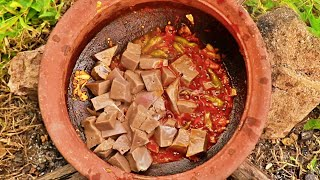 MUTTON LIVER CLAY POT FRY IN WILD