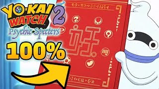 Yo-kai Watch 2 Psychic Specters 100% Medallium - All 448 Yo-kai!
