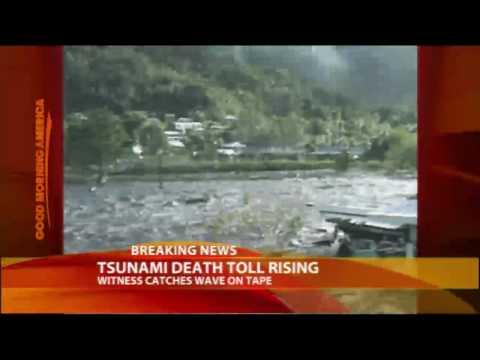 Tsunami Witness Catches Surge on Tape