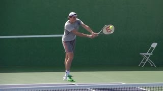 Milos Raonic Volley and Serve In Super Slow Motion - Indian Wells 2013 - BNP Paribas Open