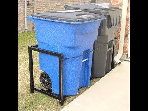 The Cart-Port Trash & Recyle Cart Storage System www.Cart-Port.com