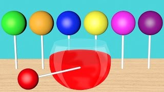 Learn colors Lollipop Coloring Machine Colors Songs for children Toddlers Kids Baby