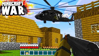 this Minecraft Bandit PARACHUTED into our MILITARY AREA! (Minecraft War #33)