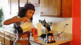 How To Make The Best Tasting Protein Shake With Keaira Lashae (banana Pudding Flavor)