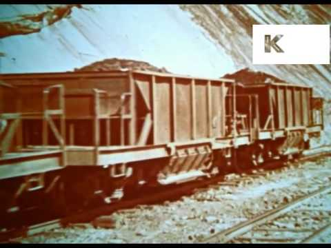 1950s 1960s Brazil, Iron Ore Mine and Steel Mill, Industry