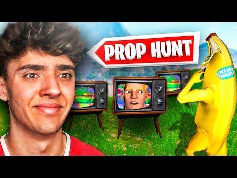 Reaccionando al nuevo modo de juego de FORTNITE! *Prop Hunt*