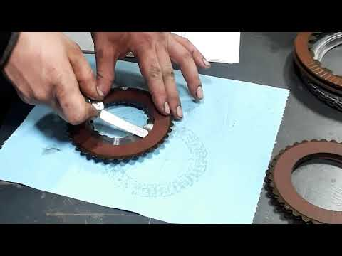 Allison 2000 Transmission Rotating Clutch Module C1 Friction Plate  Inspection