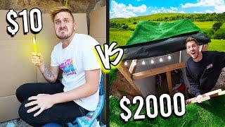 $10 VS $2,000 UNDERGROUND BUNKERS! *Budget Challenge*