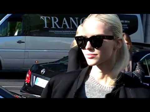 Sasha LUSS Top Model @ Paris Fashion Week March 2014 Kenzo Show