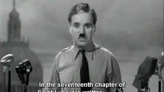 """The Great Dictator"" speech by Charlie Chaplin (English Subtitles)"