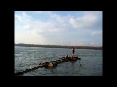 Danube swimming in winter ... in Ruse, Bulgaria