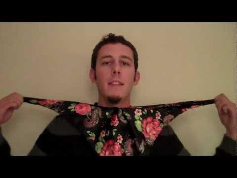 Easy way how to tie an ascot neckerchief