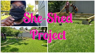 SHE SHED PROJECT | Home Decor Storage Part 1  #2020vlogustday7