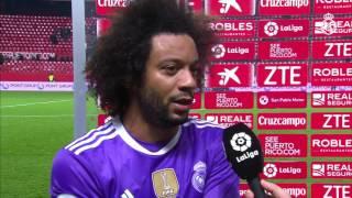 Marcelo habló en zona mixta tras el empate ante el Sevilla