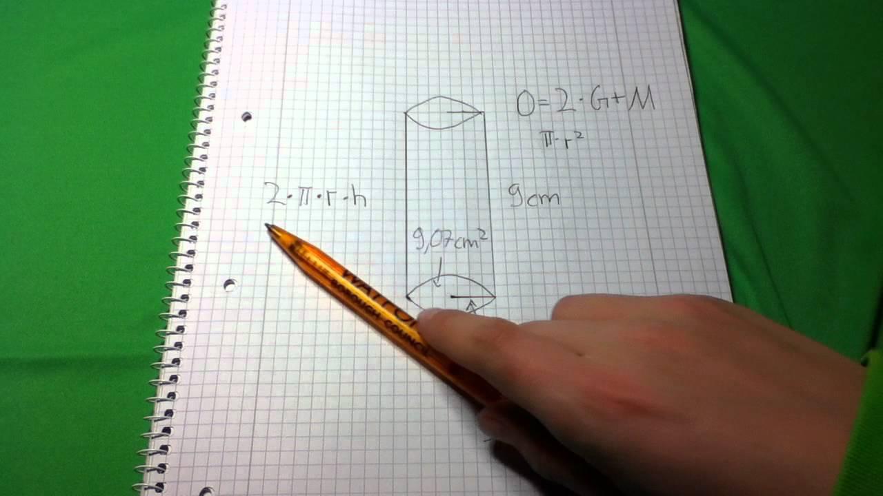 Oberfläche Eines Zylinders Ausrechnen   Mathe Übung   YouTube