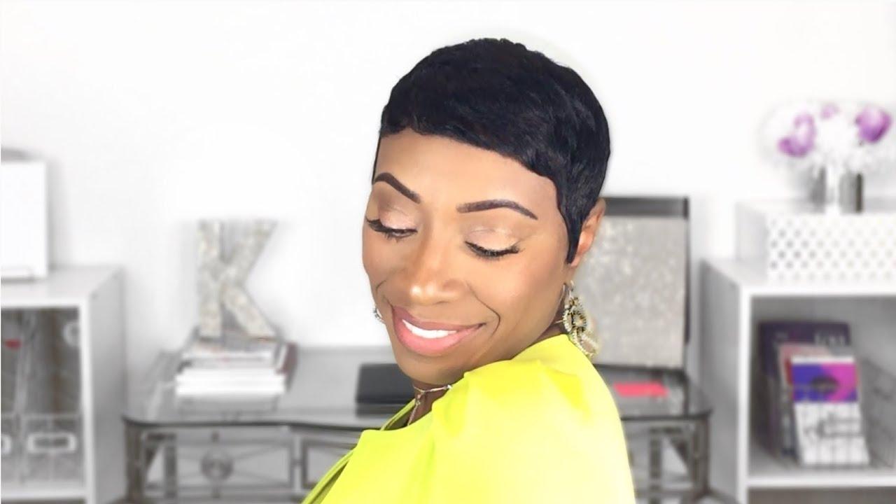 keke palmer inspired short hair tutorial kaye wright