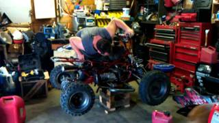 fireing new takegawa engine on the honda mini quad that is 4-sale