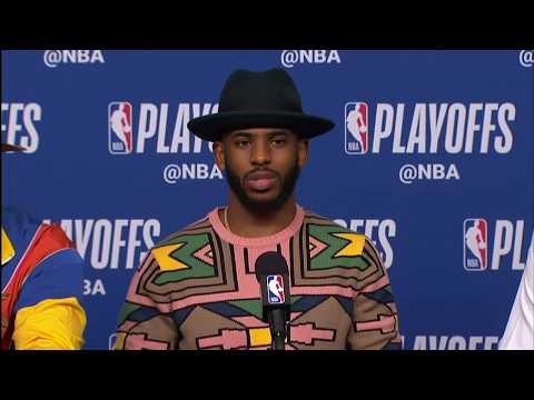 James Harden Chris Paul & PJ Tucker Postgame Interview   Jazz vs Rockets Game 5