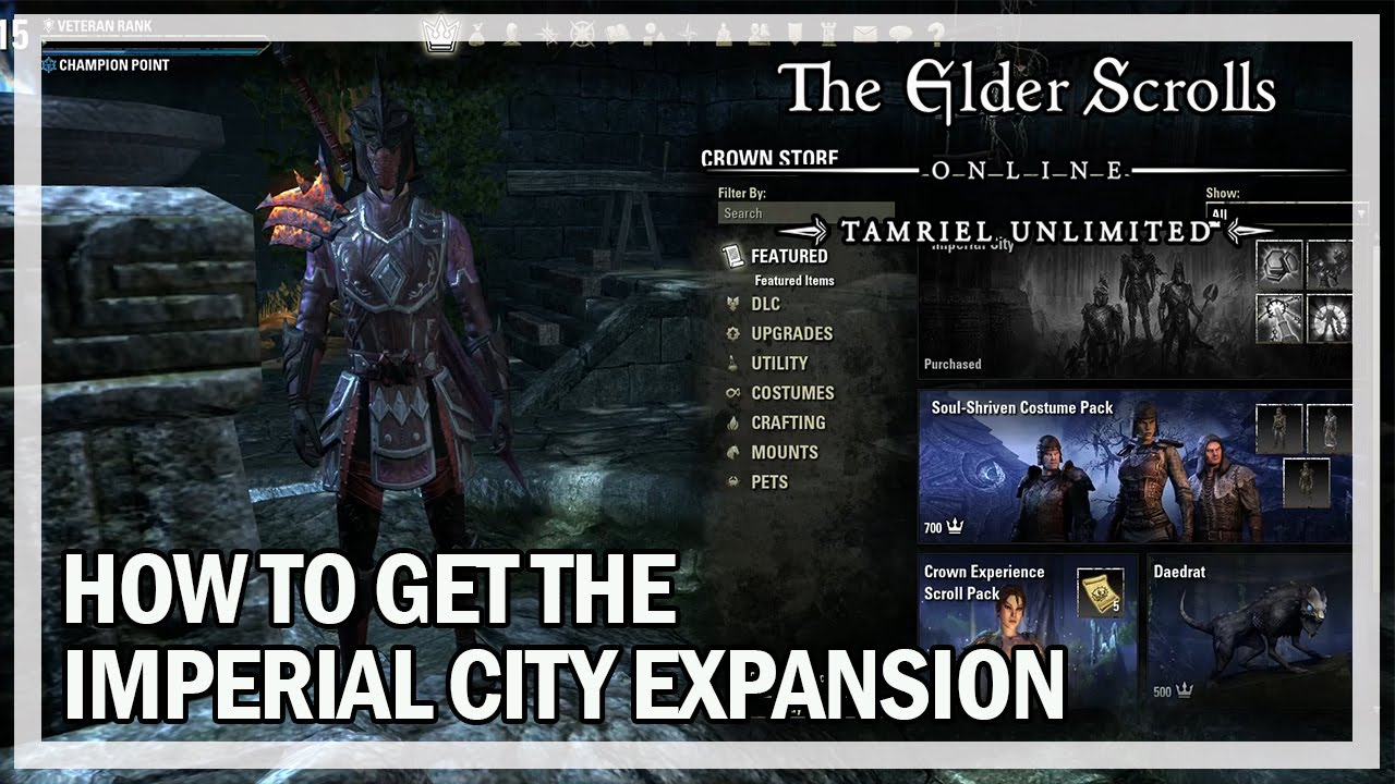 The Elder Scrolls Online How to get the Imperial City Expansion Guide