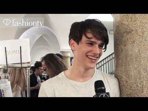 Handsome Models Backstage at John Varvatos SpringSummer 2013  Milan Men's Fashion Week  FashionTV