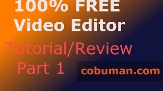 Free Video Editor | For Beginners | Part 1 Windows Movie Maker