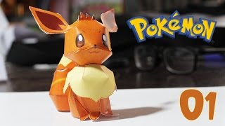 Pokemon - How to papercraft Pokémon Eevee # 01 design by Yoshiny Yo