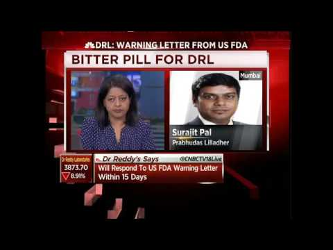 Dr.Reddy's Lab Receives Warning Letter From US FDA -Nov 7