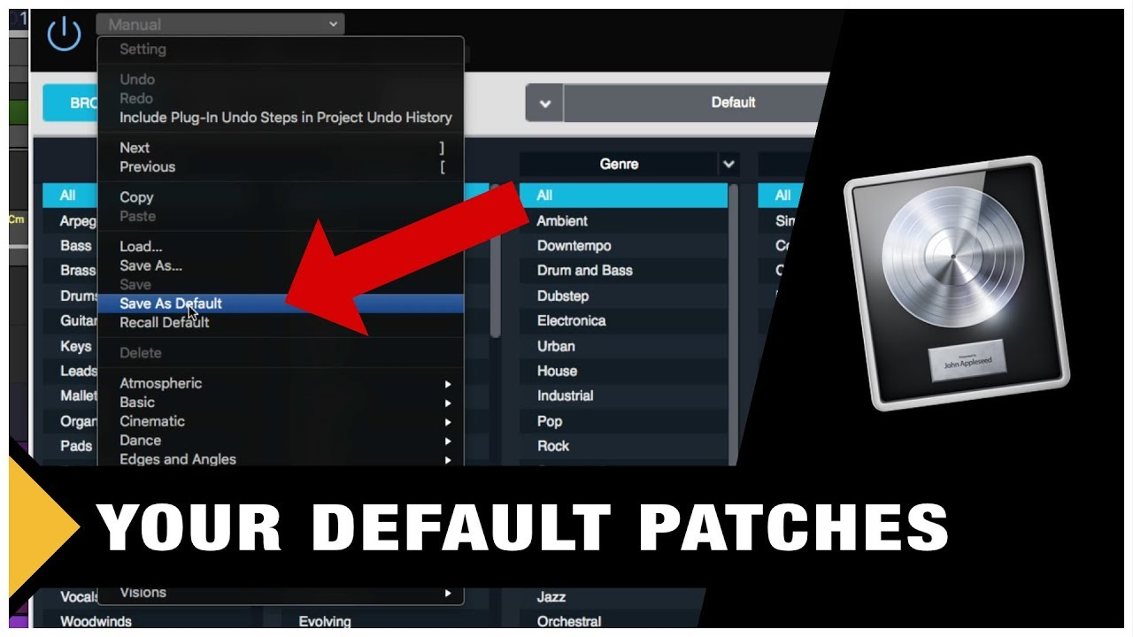 How to Save your own Default Patches in Logic Pro X