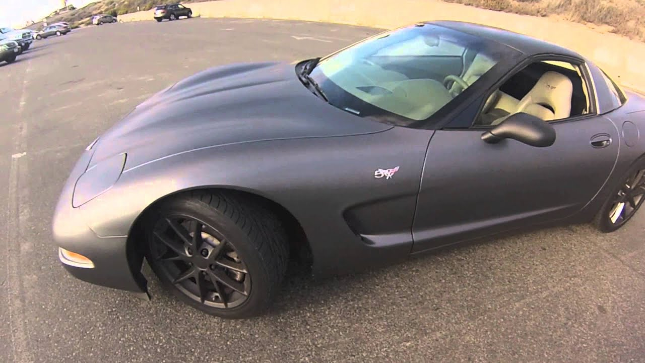 50Th Anniversary Corvette >> SD Wrap - 50th Anniversary Corvette Full Matte Dark Gray Vinyl Wrap (San Diego) - YouTube