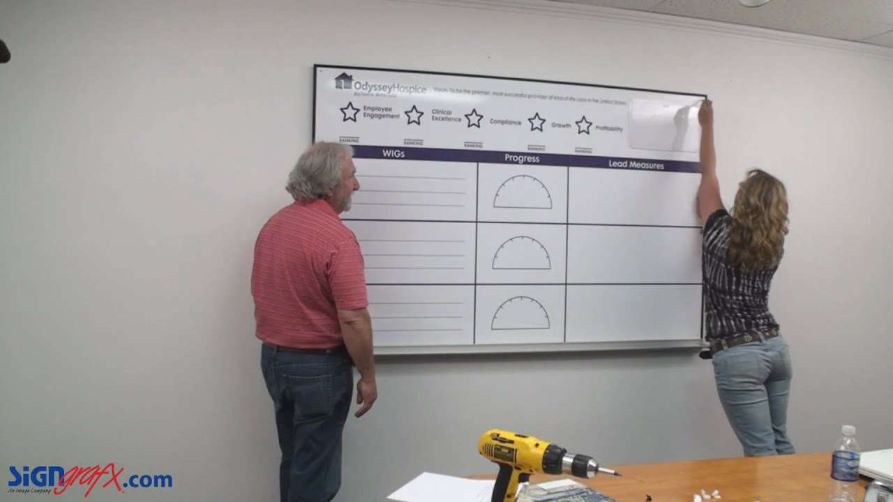 Dry Erase Board Installation Youtube