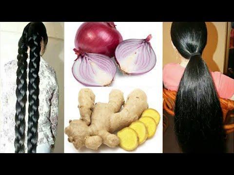 هذه الوصفة ستطيل شعرك بجنووون | قوة البصل والزنجبيل في تطويل وتكثيف شعرك سيصبح مثل شعر الهنديات
