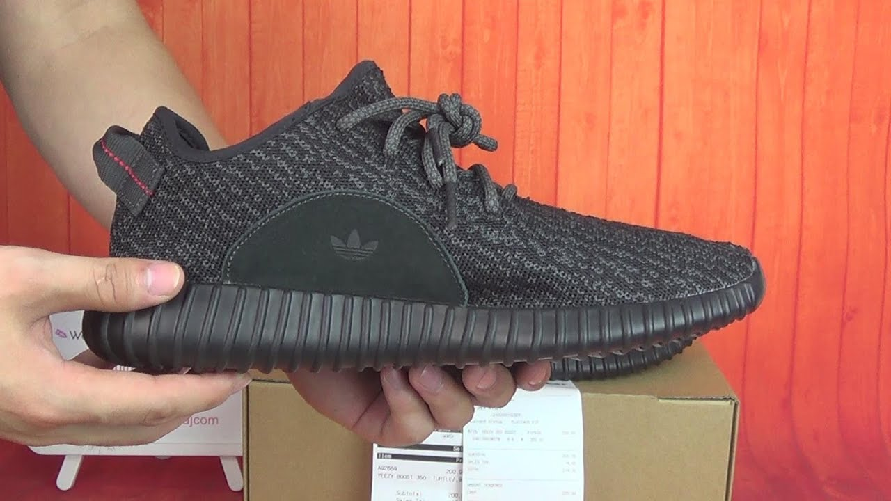 2cd99c04a4dec Authentic Adidas Yeezy 350 Boost Pirate Black HD Unboxing Review From  authenticaj