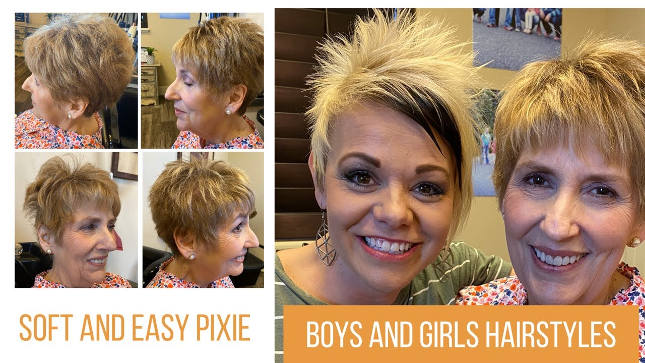 Short Pixie Hairstyle For Women Over 60 Soft And Easy Pixie Youtube