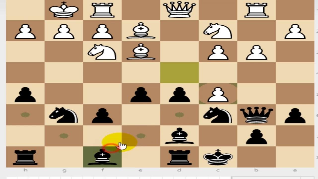チェス対局 フレンチディフェン...