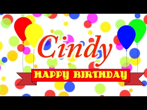 Happy Birthday Cindy Song