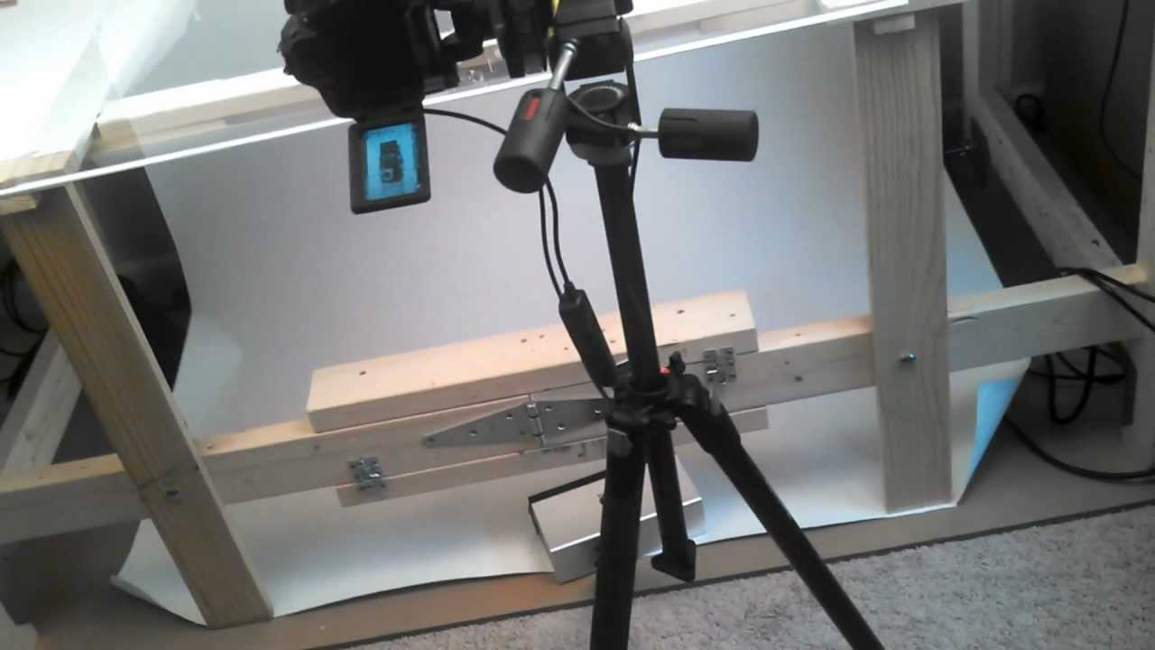 my DIY product photography table - YouTube