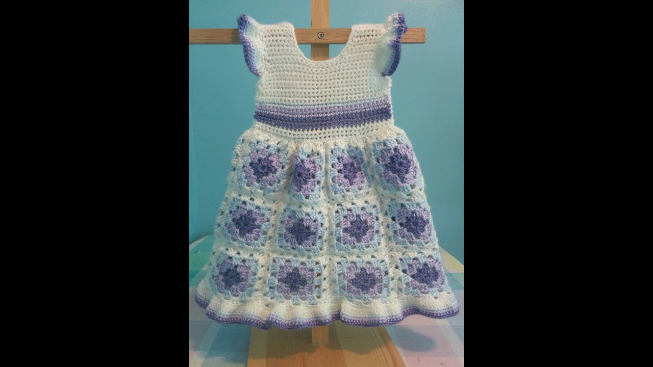 How to crochet a granny square baby dress easy youtube how to crochet a granny square baby dress easy bankloansurffo Choice Image